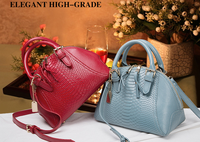 20156China supplier wholesale stereotypes PU snake leather women handbags