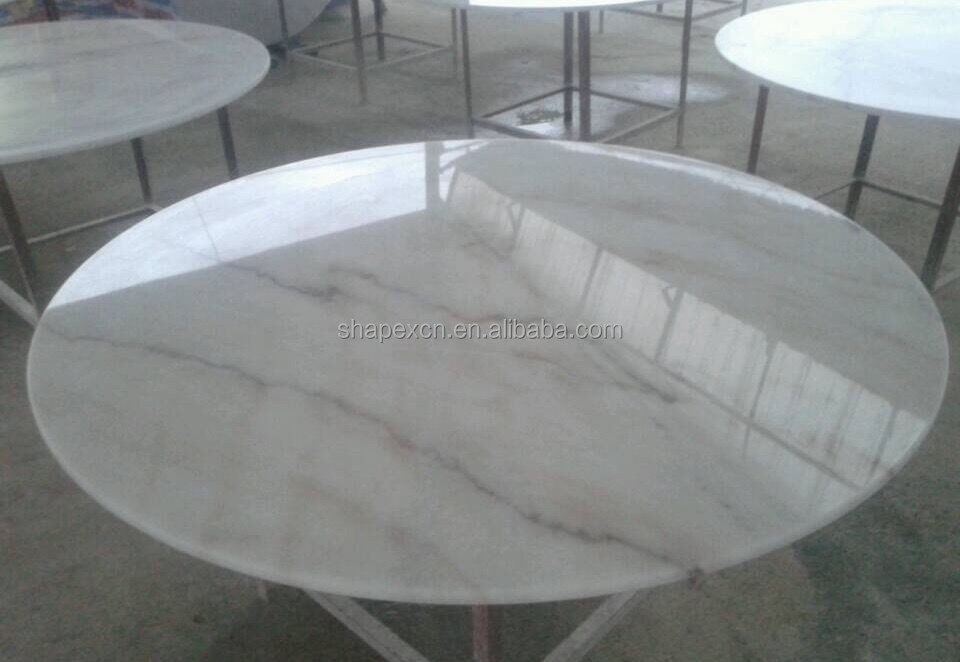 Guangxi white custom cut marble table top