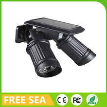 Waterproof 14LED Dual Head Solar Powered Motion Sensor Spotlight For Yard Garden Lighting