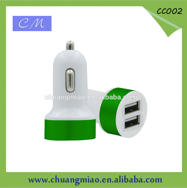 LED display Smart Dual USB Port 5V 4.8A USB Car Charger for Smart Phone Tablets usb car charger