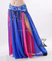 Pretty Two layers Bellydance Split Skirt for Lady Dancers Wear (QC1033)