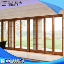 Aluminum Balcony Glass Exterior bifold door/piano door/Folding Doors