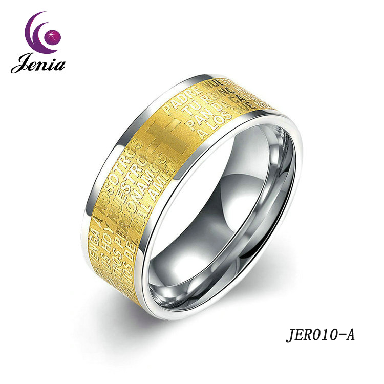 Jenia Expensive Fashion Jewelry Antique Healthy Never Fade Plated Gold Mens Rings