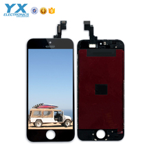 100% no pixel spot black mobile phone lcd screen display for iphone 5, for iphone 5 lcd assembly, test one by one
