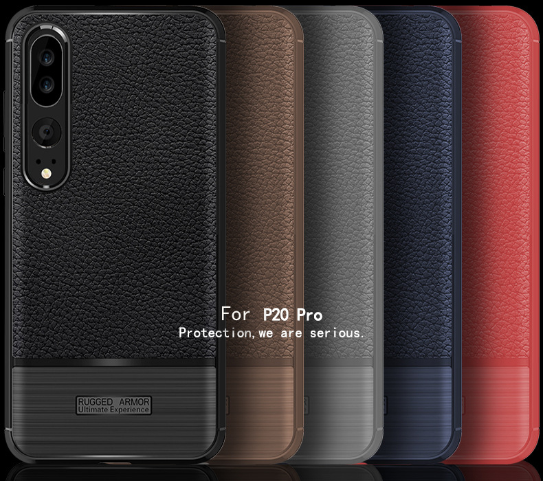 Leather Back <strong>Case</strong> Covers for huawei p20 pro phone smart