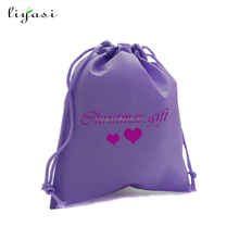 high quality PP non woven drawstring bag with CMYK printing
