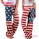 New Style Leisure American Flag Printing Palazzo Pants Women
