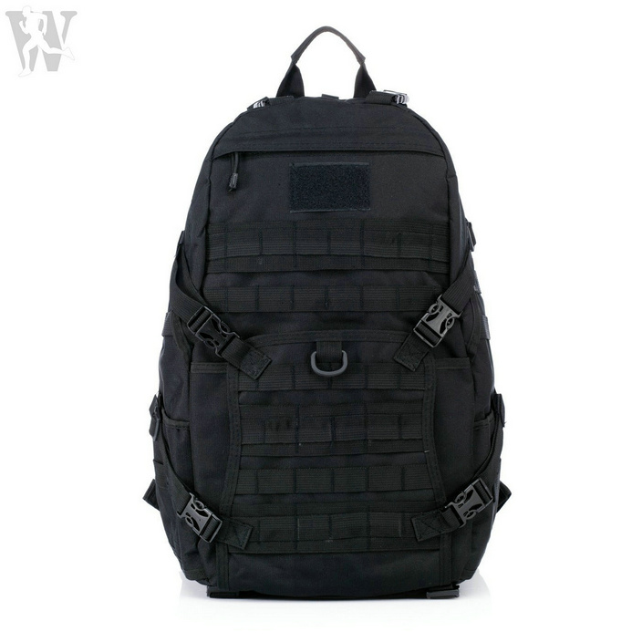 China Manufactory Black Waterproof Nylon Molle Tactical Bag Military Backpack