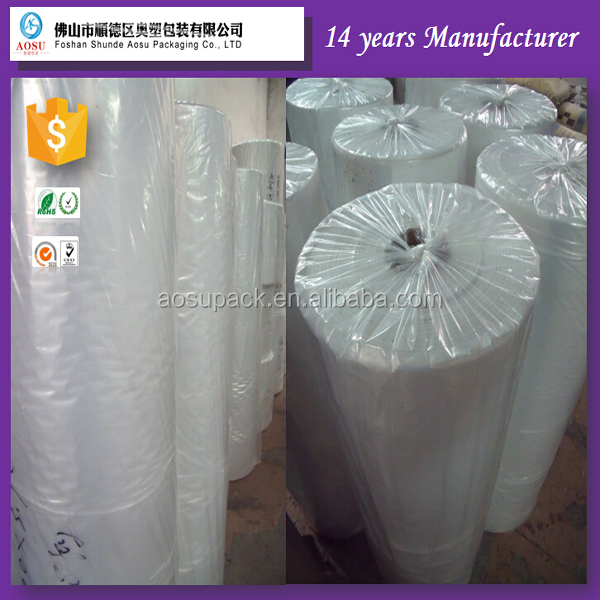 PVC/PE Film for Liquid Packing high shrinkage protective film