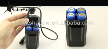 Solarstorm BC-1 rechargeable water-proof 4*18650 li-ion battery pack case used for bike light