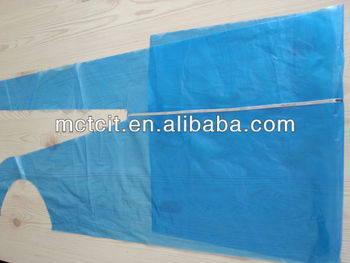 disposable detective pe apron with detectable strip for food industry