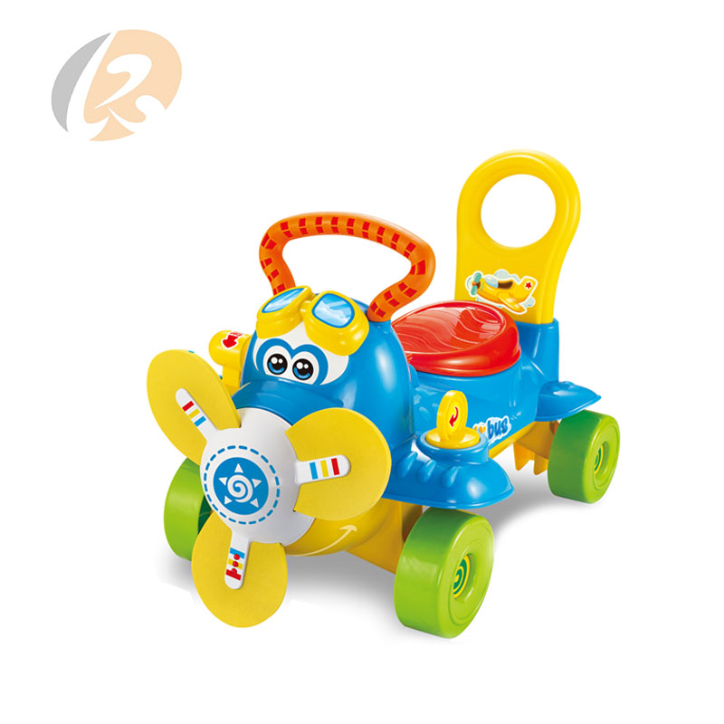 2 in 1 push playing airbus ride cars kids with light