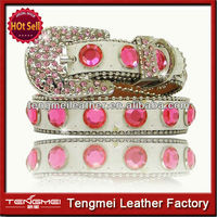 Wholesale Hot Sale Western Pink Rhinestone Bling Dog Collar