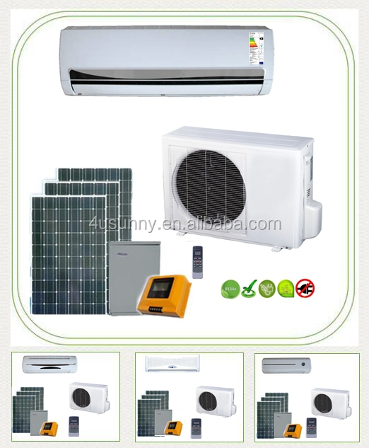 r410a solar power air conditioner split cooling air conditioning solar