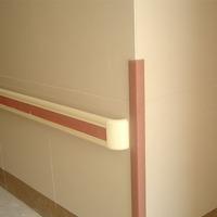 good quality Plastic corner guard / pvc wall protection corner angle hospital