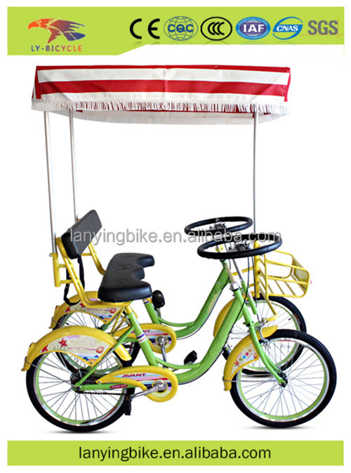 hot sale cheap 2 seater used surrey bike bicycle /tandem bike with steel frame for adults