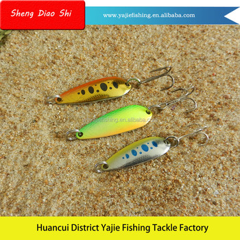 Free Samples !!! Painted Metal Spoon Blades Fishing Lures For Sale