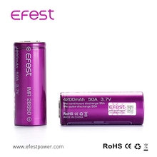 3.7V imr battery efest 50A 26650 4200mah battery wholesale efest 26650 18650 battery