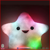 Factory passed ICTI SEDEX BSCI star shape luminous plush led pillow