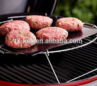 Custom Logo Gas Charcoal Electric Grill BBQ Teflon PTFE Grill Mat , Barbeque Oven Baking Microwave Toaster