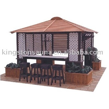 Beautiful Home And Garden Wooden Gazebo Hot Tub Wooden