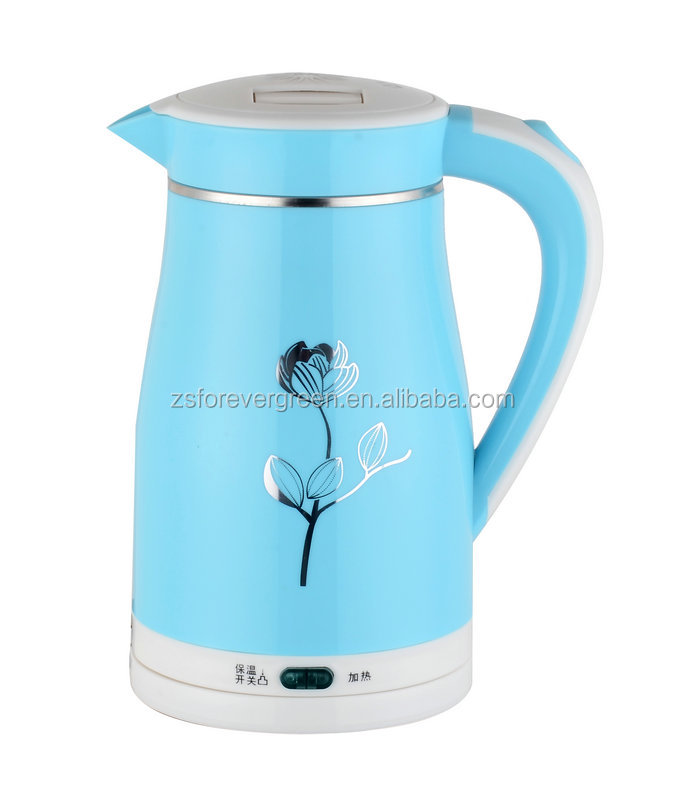 double layers electric water kettle keep warm funtion