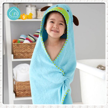 New design 100% cotton fabric animal shape baby terry hooded bath towels
