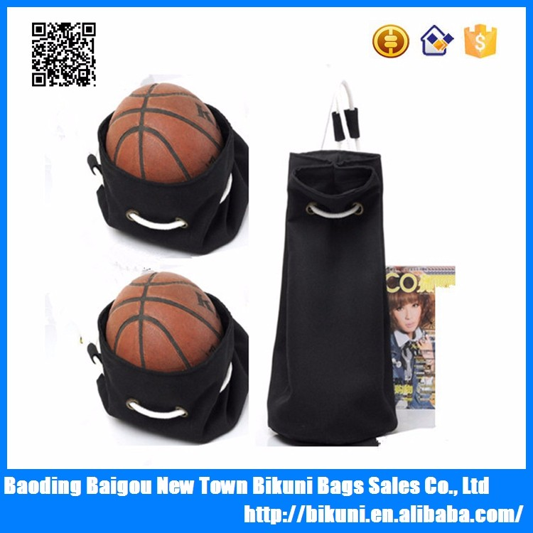 wholesale new fashion black color bucket canvas basketball gym backpack for girls