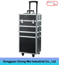 Aluminum Make Up Trolley Cosmetic Case Hard Makeup Trolley Case