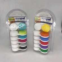 New design colourful travel purpose contact lens case