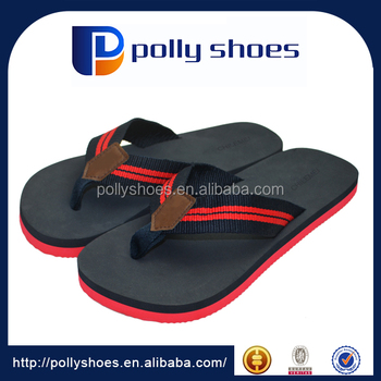Fashion man catwalk show for beach flip flops two color sole