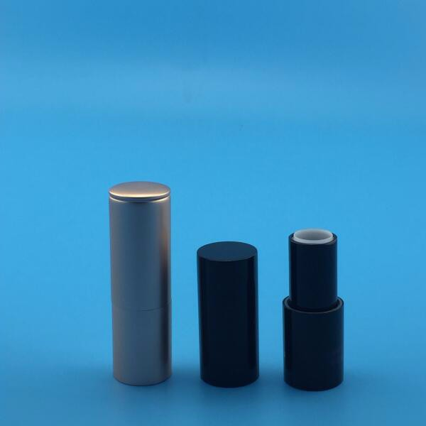 manufacturer empty black magent lipstick casing with cap