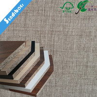 wood grain large size 1830*3660mm 4.75mm faced particle board