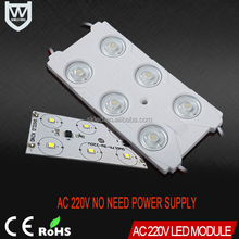 Competitive price CE&ROHS certificate high waterproof 6 leds 2835 injection led module AC 220V led module for ADS light source