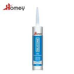 Homey 660 quick drying general purpose waterproof acetic industry sealant transparent silicone