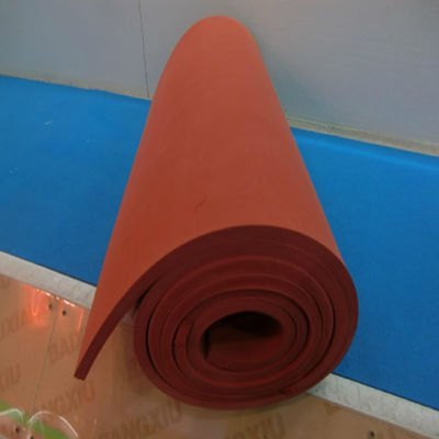 3mm thin red high quality silicone foam rubber sheet