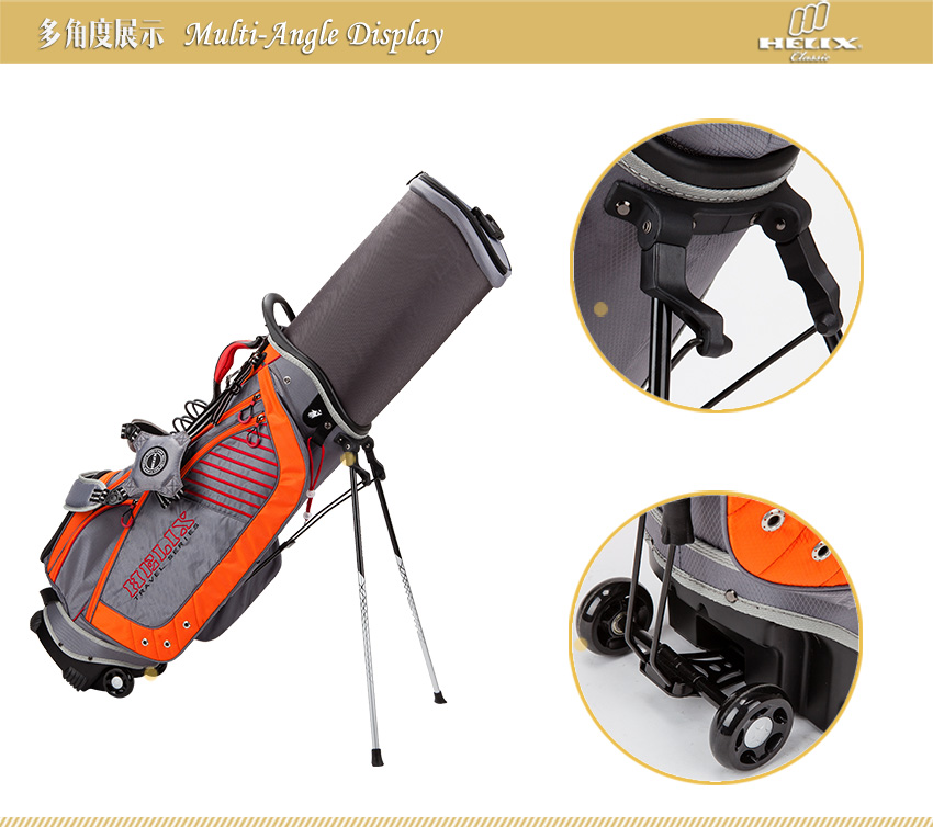 wheels with golf bag , Sunday Golf Bag (Adult Size) By Helix golf / Perfect for the Golfer on the Go!