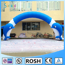 2016 dolphin custom 6M inflatable arch/inflatable archway for advertsing