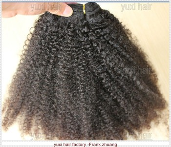 afro kinky curly hair extensions alibaba wholesale Virgin hair