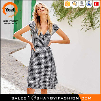 YEEL fashion wear comfortable Washable Semi fitted shape all types of ladies dresses