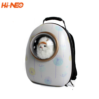 Durable printed fashion shoulder cat dog pet carrier bag for bike car