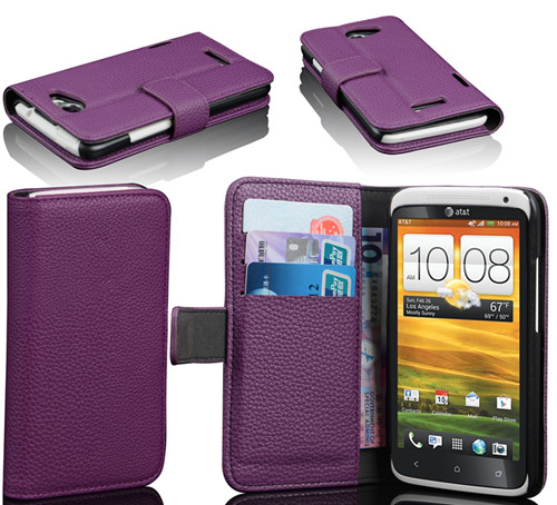 hot sale protective leather wallet case cover for htc one x