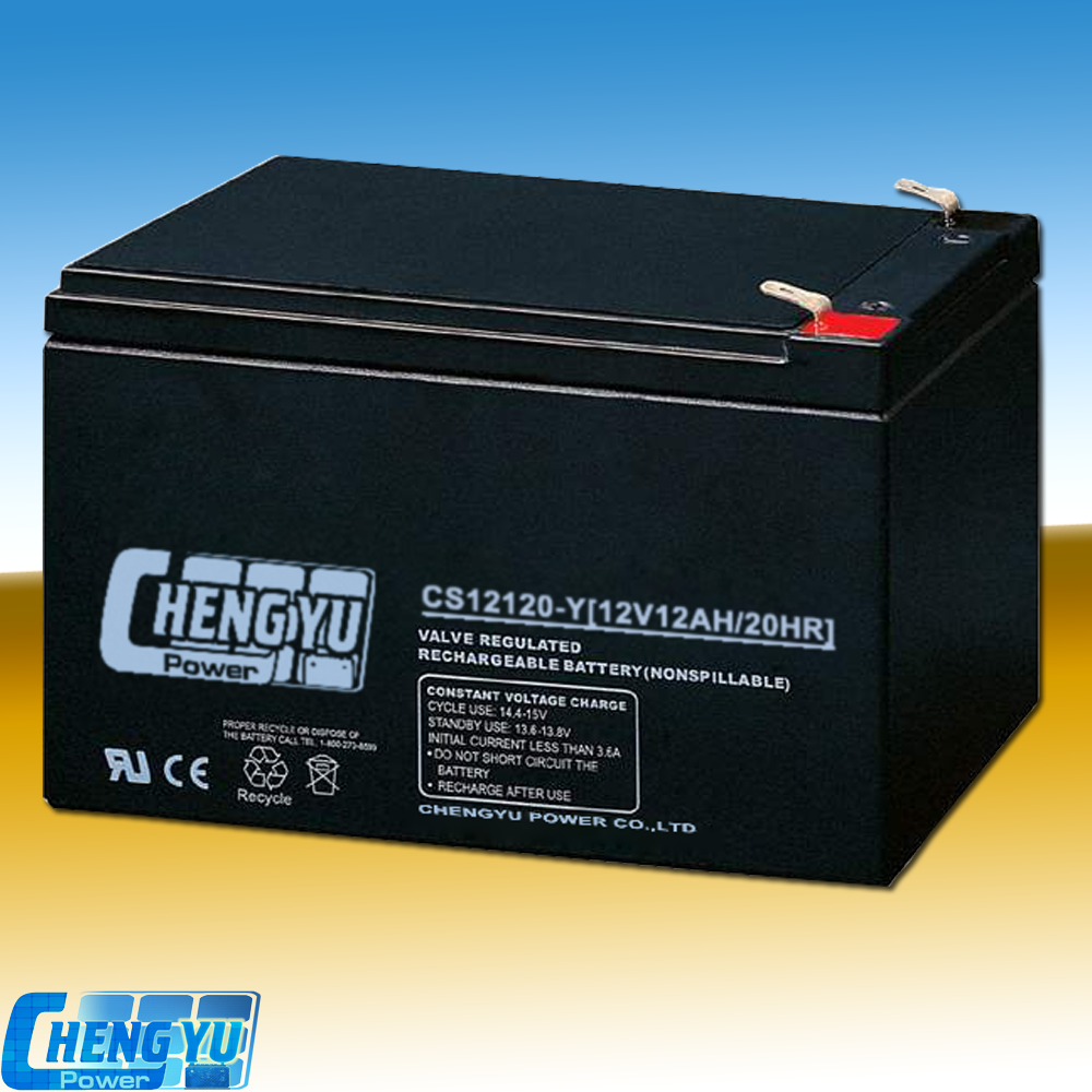 High quality VRLA 12v12ah maintenance free rechargeable sealed lead acid battery for solar system
