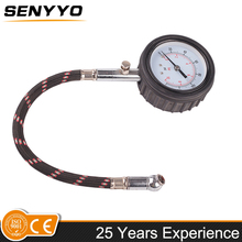 "1.5''dial 1/2"" BSP straight chuck mini tire pressure gauge"