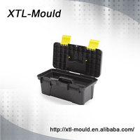 Portable plastic tool box with inner tray