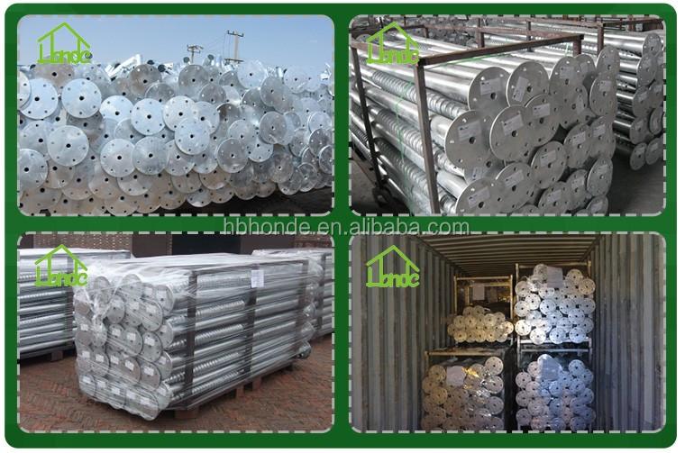 China Factory Solar Racking Ground Screw Pile