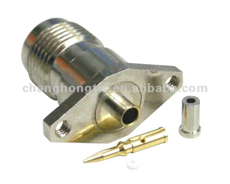TNC JACK RP PANEL 2 HOLES CRIMP FOR RG178