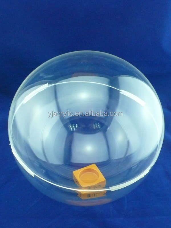 clear glass acrylic dome display