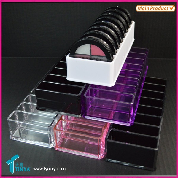 Wholesale Beauty Supply Distributors Counter Top Acrylic Eye Shadow Organizer
