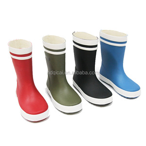 2018 Fashion Cheap Price Printed Kids Rubber Rain Boots Factory